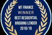 BEST RESIDENTIAL BRIDGING LENDER 2018/ 19
